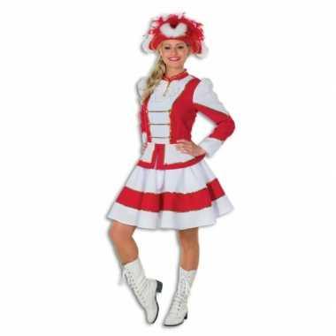 Twirl foute kleding voor dames rood met wit