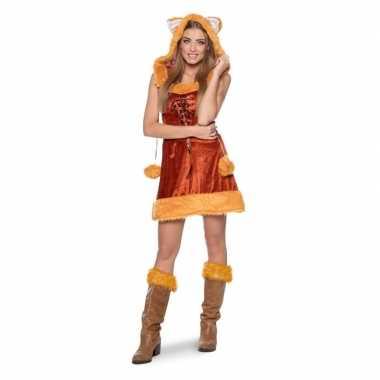 Vos dierenfoute kleding jurkje voor dames