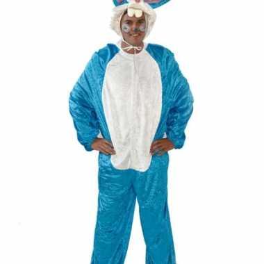 Vrijgezellenfeest foute kleding blauw konijn