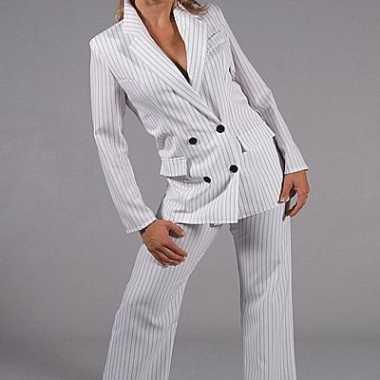 Vrouwen gangster foute kleding wit