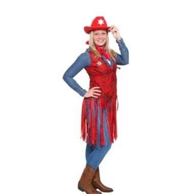 Western rood cowgirl foute kleding voor dames
