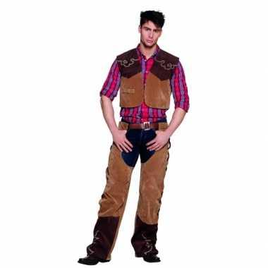 Wild west cowboy foute kleding bruin