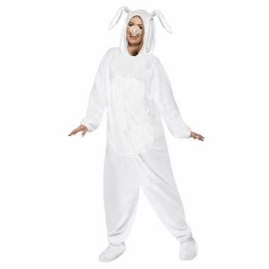 Wit konijn/haas foute kleding voor volwassenen