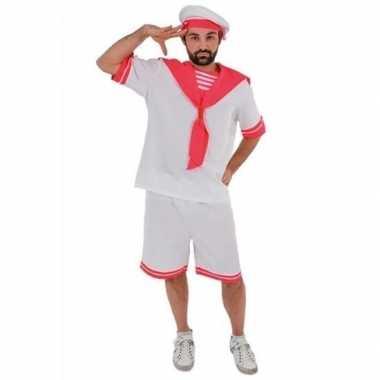 Wit roze matrozen foute kleding voor heren