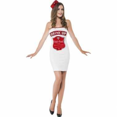 Witte dames foute kleding dranklabel