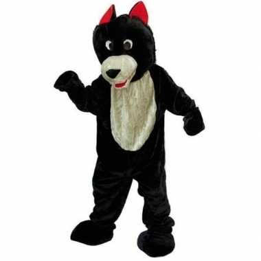 Wolf foute kleding van pluche