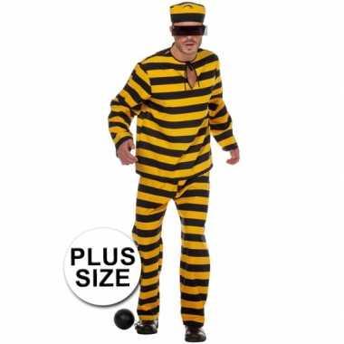 Xl inbreker foute kleding zwart/geel voor heren