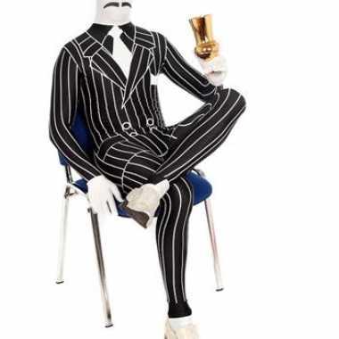 Zentai gangster foute kleding krijtstreep