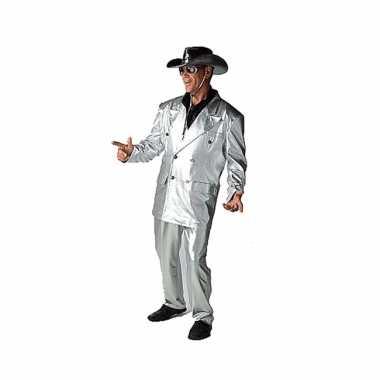 Zilveren bling foute kleding voor heren
