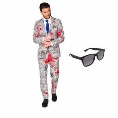 Zombie heren foute kleding maat 50 (l) met gratis zonnebril