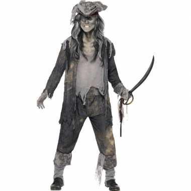 Zombie piraten foute kleding voor heren