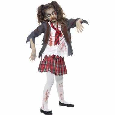 Zombie schoolmeisje foute kleding voor meisjes