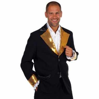 Zwart goud glitter foute kleding heren