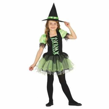 Zwart/groen heksen foute kleding voor meisjes