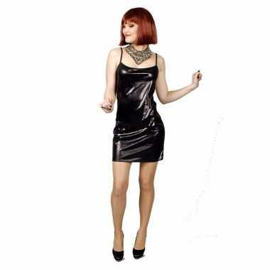 Zwart met lichte glitter stretch foute kleding/jurk