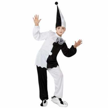 Zwart met wit pierrot clown foute kleding