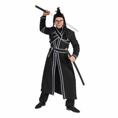 Zwart samoerai foute kleding voor heren