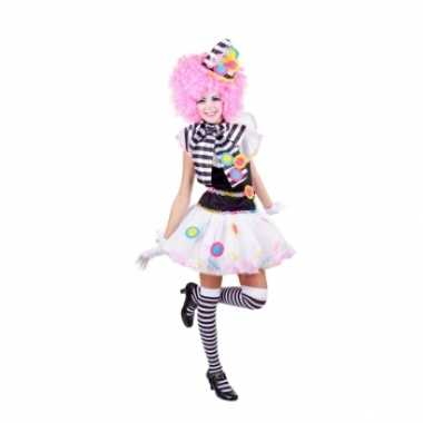 Zwart witte clown foute kleding voor dames