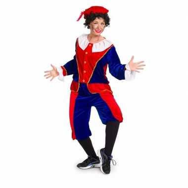Zwarte piet foute kleding rood / blauw