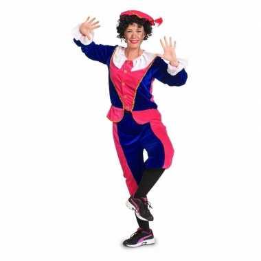 Zwarte piet foute kleding voor dames roze / blauw