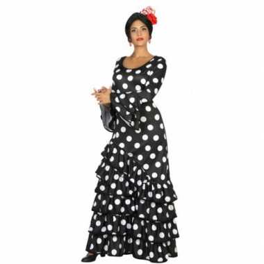Zwarte spaanse foute kleding jurk