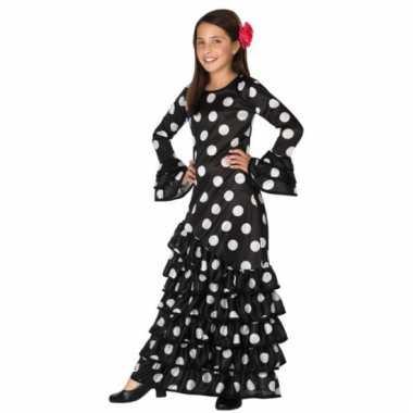 Zwarte spaanse kids foute kleding jurk