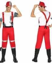 Brandweerman joe foute kleding met bretels voor heren