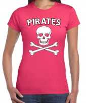 Fout piraten shirt foute party shirt roze dames kleding