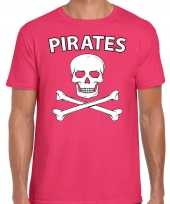 Fout piraten shirt foute party shirt roze heren kleding