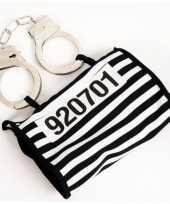 Foute boeven handtasje met handboeien kleding