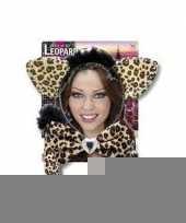 Foute carnaval set luipaardje voor volwassenen kleding