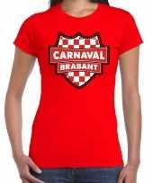 Foute carnaval t-shirt brabant rood voor voor dames kleding