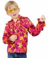 Foute flower power blouse met rouche kids kleding