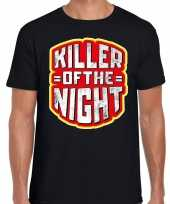 Foute halloween killer of the night t-shirt zwart voor heren kleding