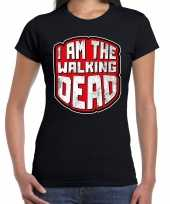 Foute halloween walking dead t-shirt zwart voor dames kleding