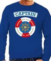 Foute kapitein captain sweater blauw voor heren kleding