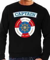 Foute kapitein captain sweater zwart voor heren kleding