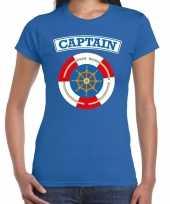 Foute kapitein captain t-shirt blauw voor dames kleding