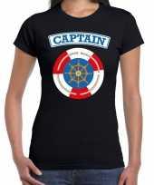 Foute kapitein captain t-shirt zwart voor dames kleding