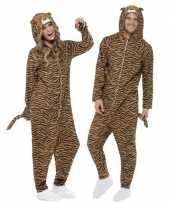 Foute kleding tijger all in one voor volwassenen