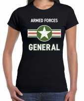 Foute landmacht armed forces t-shirt zwart voor dames kleding