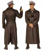 Foute lange soldaten jas tweede wereldoorlog kleding
