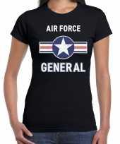 Foute luchtmacht air force t-shirt zwart voor dames kleding