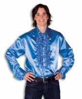 Foute overhemd blauw met rouches heren kleding