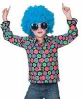 Foute overhemd met 70s disco print voor kinderen kleding