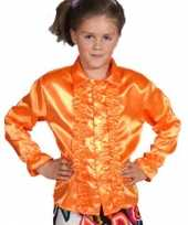 Foute rouchesblouse oranje kids kleding