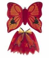 Foute vlinder vleugels set rood voor kinderen kleding
