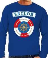 Foute zeeman sailor sweater blauw voor heren kleding