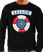 Foute zeeman sailor sweater zwart voor heren kleding