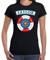 Foute zeeman sailor t-shirt zwart voor dames kleding